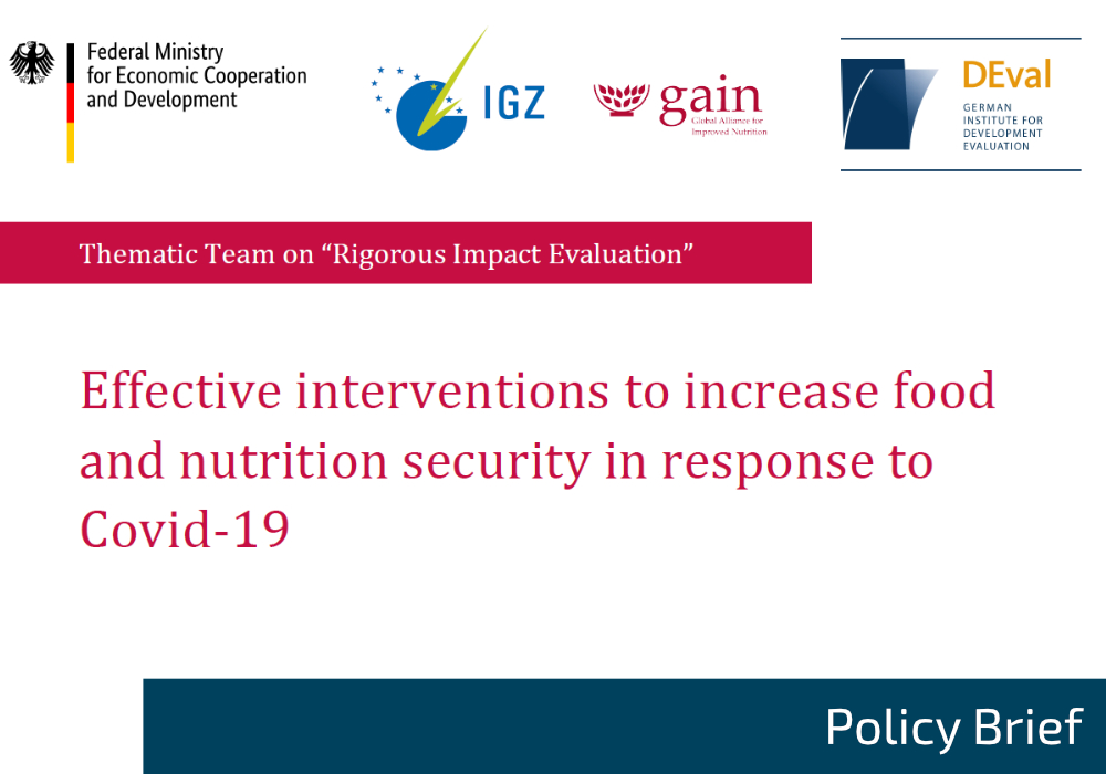 Policy Brief on food and nutrition security interventions